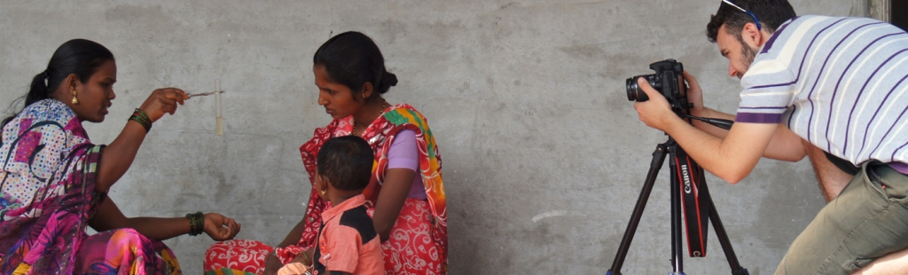 Filming Community Health Workers in India. Copyright Matt Barwick.