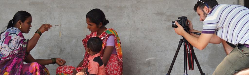Filming Community Health Workers in India. Copyright Matt Barwick.